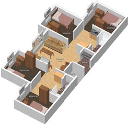 Bur Oak Suites layout