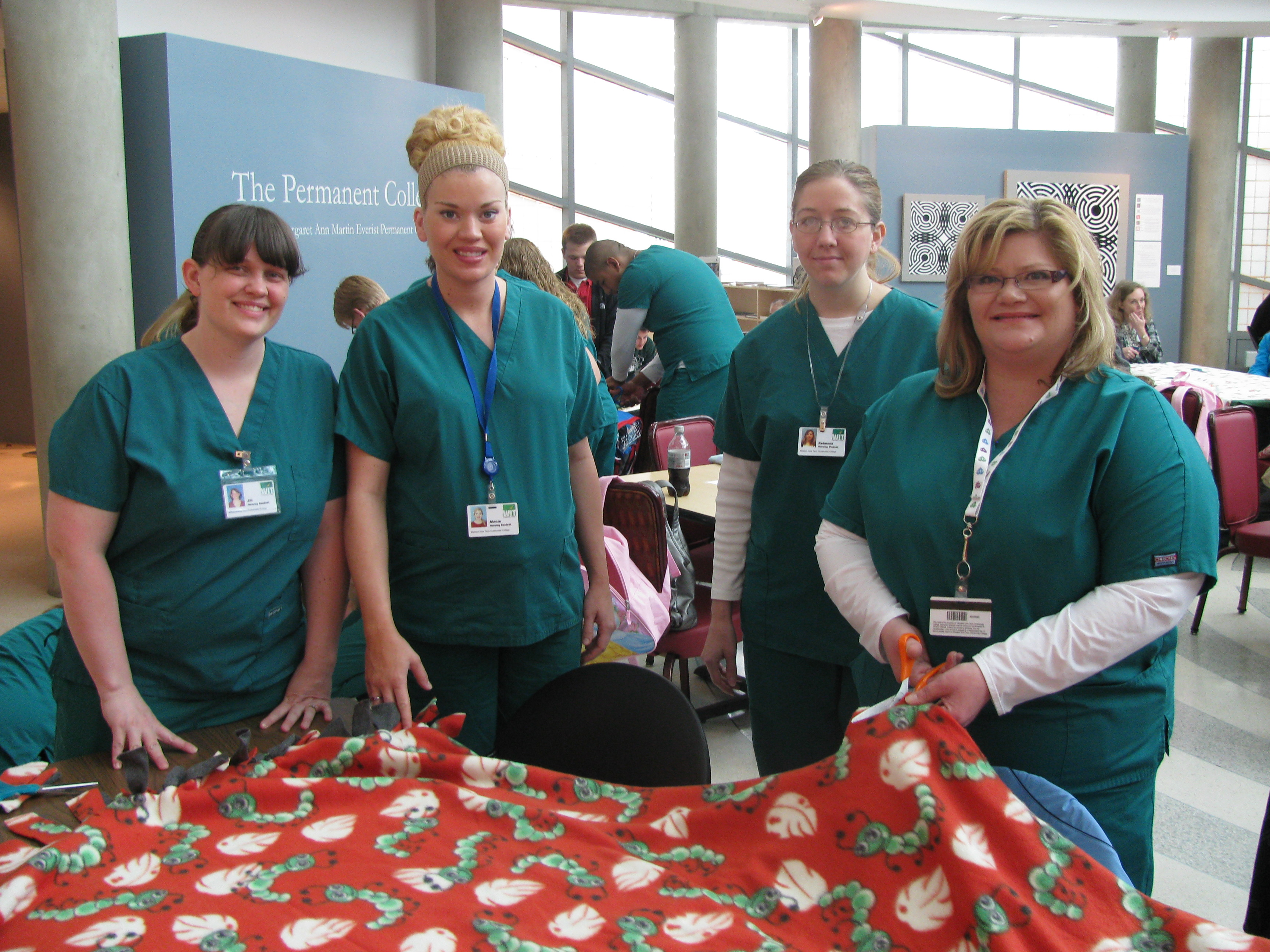 Blanket tying event for Mercy Child Advocacy Center