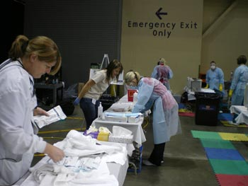 Iowa Mission of Mercy free dental clinic at Tyson Events Center